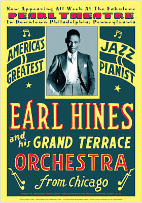 Earl Hines and his Grand Terrace Orchestra Poster