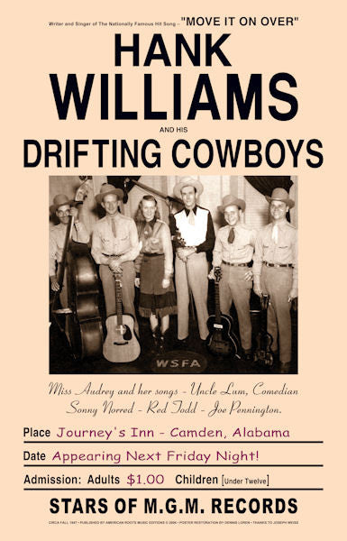 Hank Williams and His Drifting Cowboys Poster