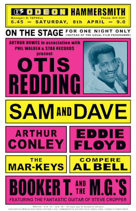 Otis Redding in Concert 1967  Poster