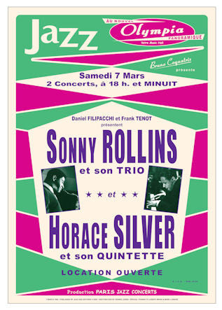 Sonny Rollins and Horace Silver Poster