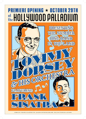 Tommy Dorsey and Frank Sinatra Poster