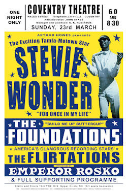 Stevie Wonder in Concert 1969 Poster
