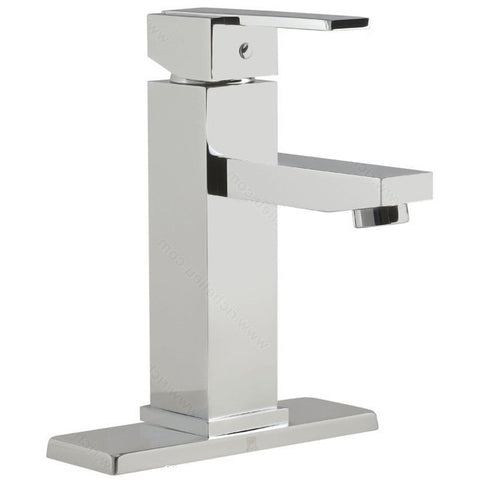 Riveo bathroom faucet A186140 modern single handle with chrome finish.