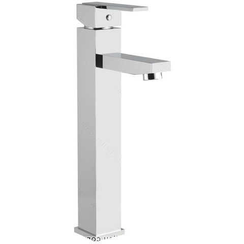 Riveo bathroom faucet A187140 modern tall single handle with chrome finish.