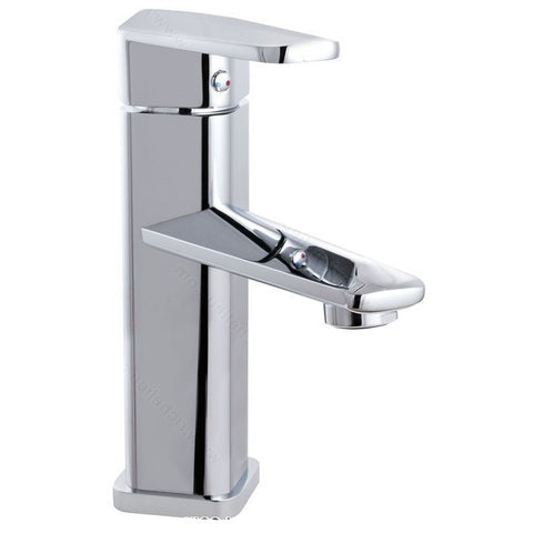 Riveo bathroom vanity faucet A194140 contemporary single handle with chrome finish.