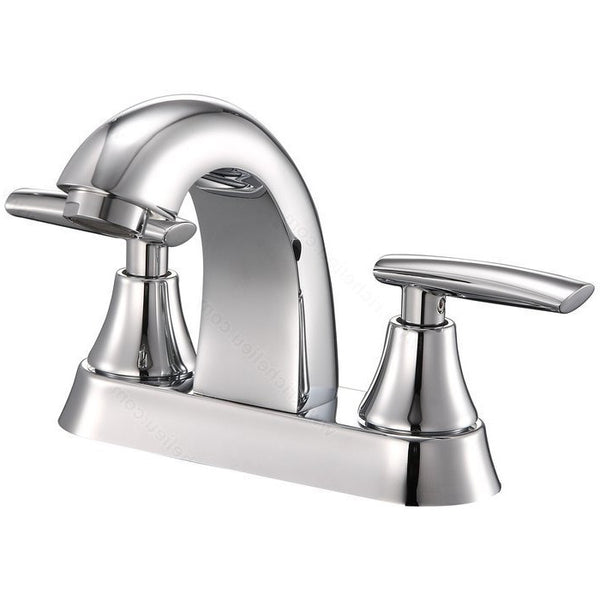 High quality riveo bathroom vanity faucet A214140 two handle solid brass construction with chrome finish.