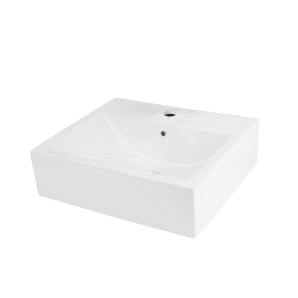 Riveo rectangle bathroom sink vessel surface mounting porcelain white washbasin for vanity ALD865
