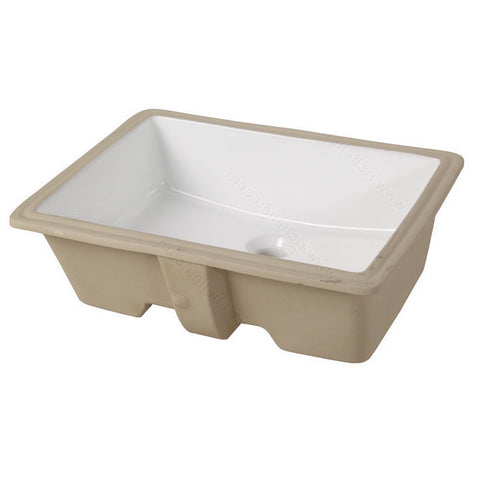 Riveo rectangle bathroom sink vessel undermount porcelain white finish washbasin vanity ALD872
