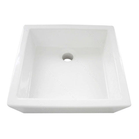 Riveo square bathroom sink vessel surface mounting porcelain white washbasin vanity ALD875