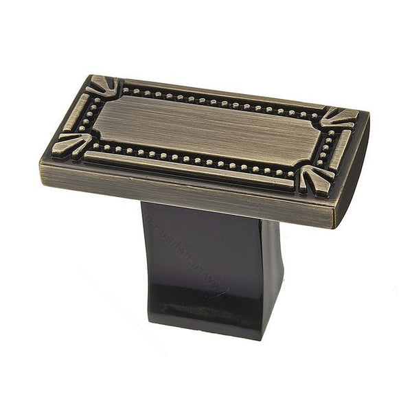 Rectangular kitchen cabinet knobs in classy antique english.