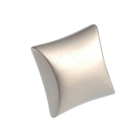 High quality cabinet knobs square in brushed nickel.