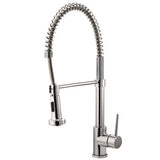 durable riveo kitchen faucet pull down spray brushed nickel a177195