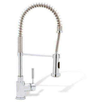 Blanco kitchen faucet pull down hand spray meridian chrome