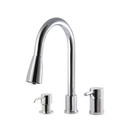 Riveo kitchen faucets pull down spray in chrome A172140