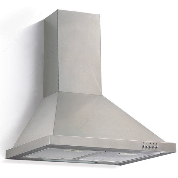 Stainless Steel Pyramid-Style Hood with Push-Button Control 450 CFM