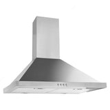 Stainless Steel Pyramid-Style range Hood with Electronic Control