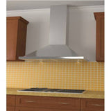 Stainless steel pyramid-style kitchen range hood with 600 CFM