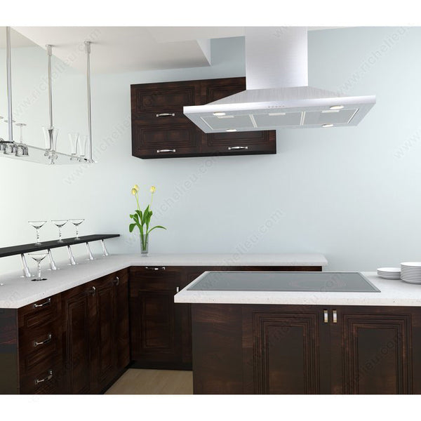 Stainless Steel Island Hood 36 inches with 600 CFM