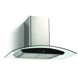 Glass and stainless steel wall kitchen range hood 600 CFM