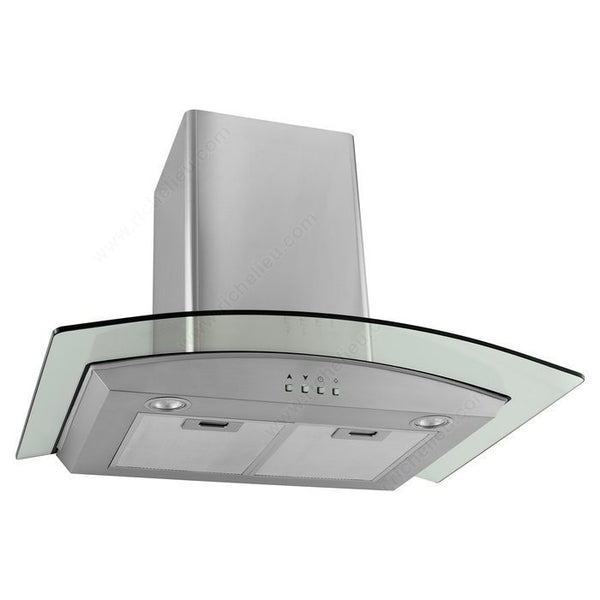 Glass and Stainless Steel Wall Kitchen Hood 450 CFM
