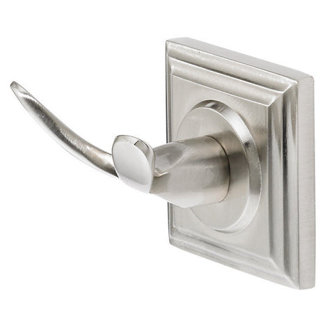 Towel hook from bentley collection in classic brushed nickel.