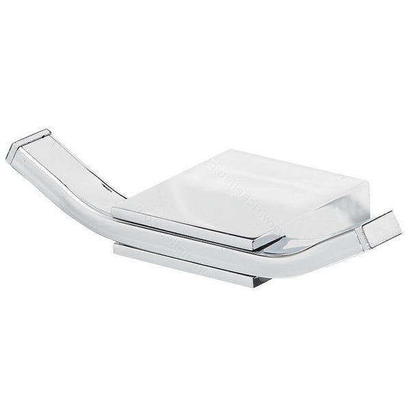 Stylish bathroom hook from gramercy collection contemporary chrome finish.