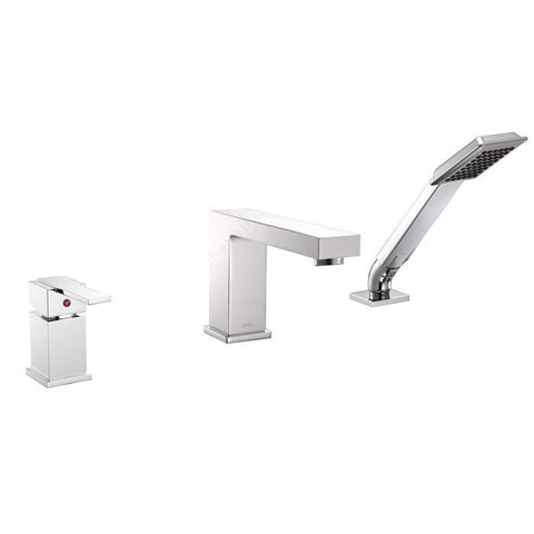Riveo bath faucet three-hole single-lever tub mixer in chrome A210140