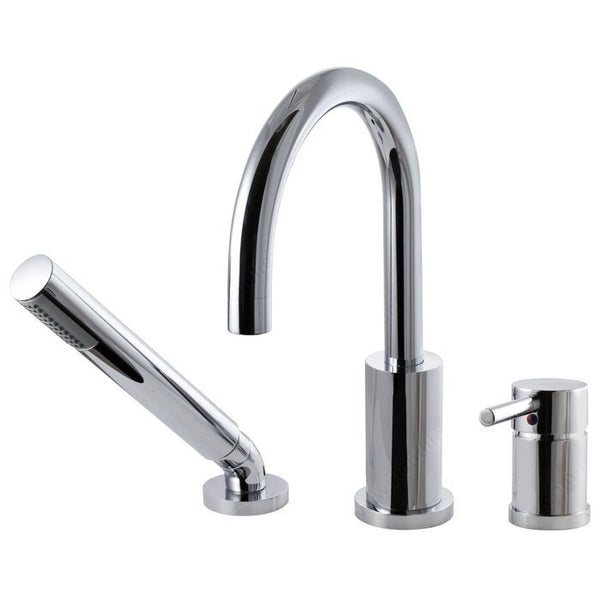 Riveo bath faucet three-hole single-lever tub mixer in chrome A211140