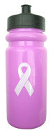 A&R Water Bottle Pink Breast Cancer Awareness w/ Push Pull Cap