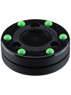 Green Biscuit Roller Hockey Puck