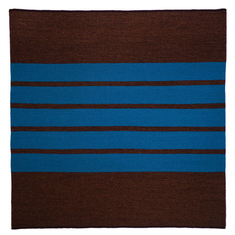 Untitled (Turquoise on Brown) by Cornelia Theimer Gardella