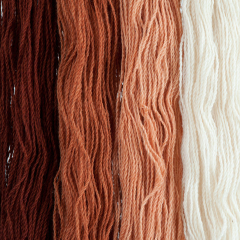 Burnt Orange, Hand-dyed 2-ply Tapestry Yarn