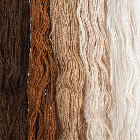 Caramel, Hand-dyed 2-ply Tapestry Yarn