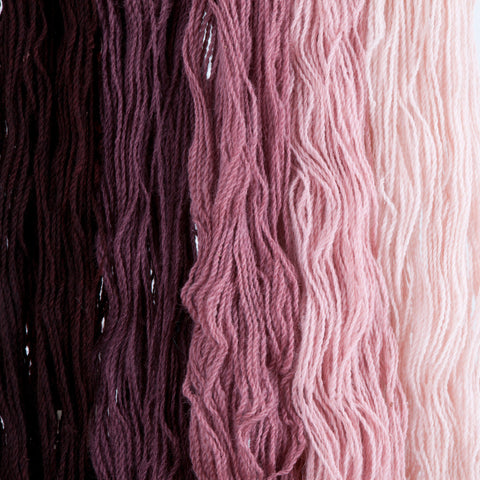 Chokecherry, Hand-dyed 2-ply Tapestry Yarn