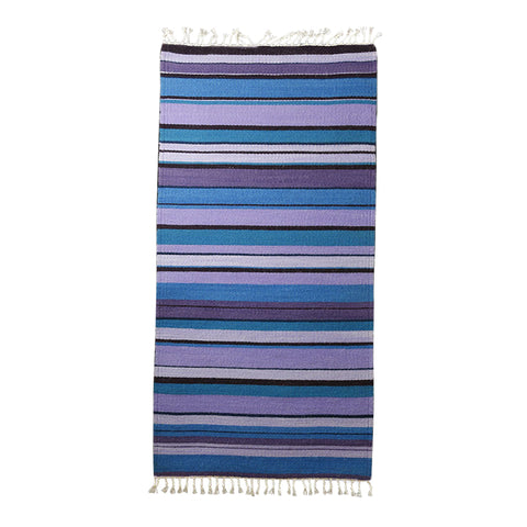 Rug #040 (Purple and Turquoise) by Lorelei Loveless