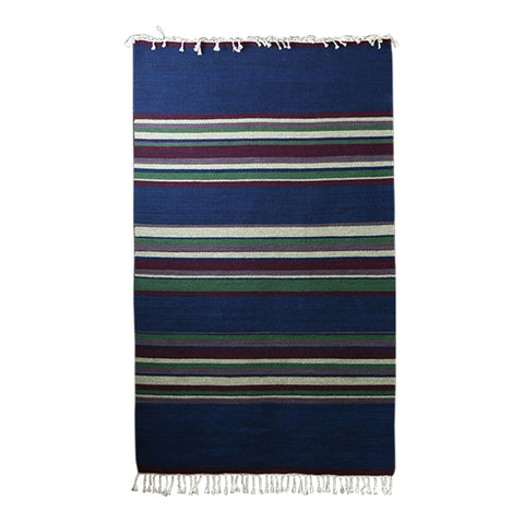 Rug #037 (Blues, Purples, Greens) by Lorelei Loveless