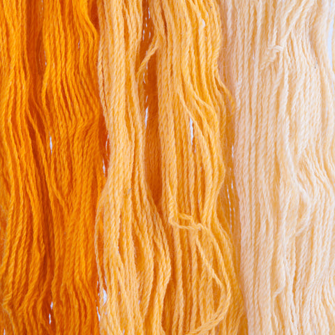 Marigold, Hand-dyed 2-ply Tapestry Yarn