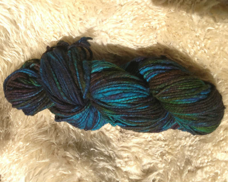 Peacock, Bulky Thick 'N' Thin Santo Domingo Fine Wool