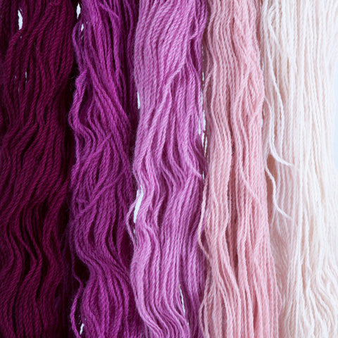 Persian Lilac, Hand-dyed 2-ply Tapestry Yarn