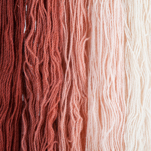 Red Willow, Hand-dyed 2-ply Tapestry Yarn