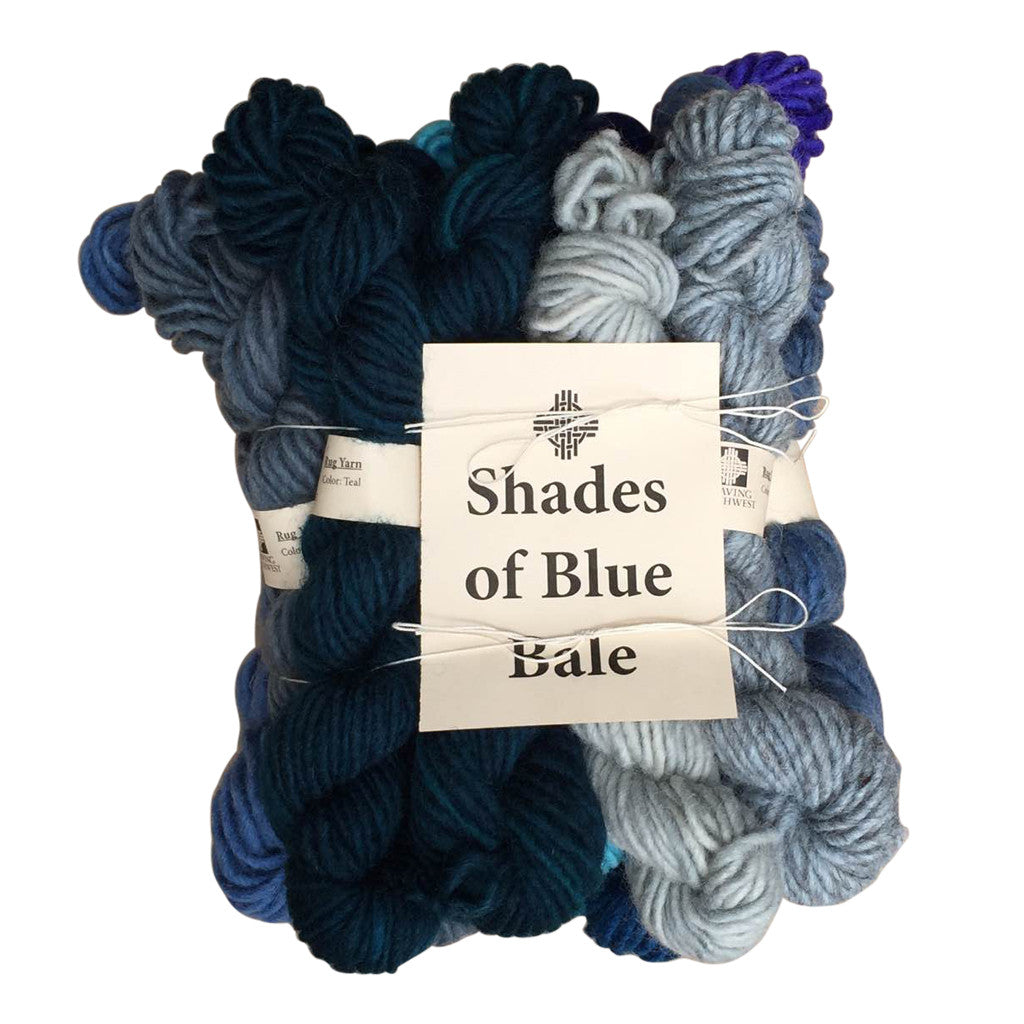 Shades of Blue Bale (Rug Yarn)