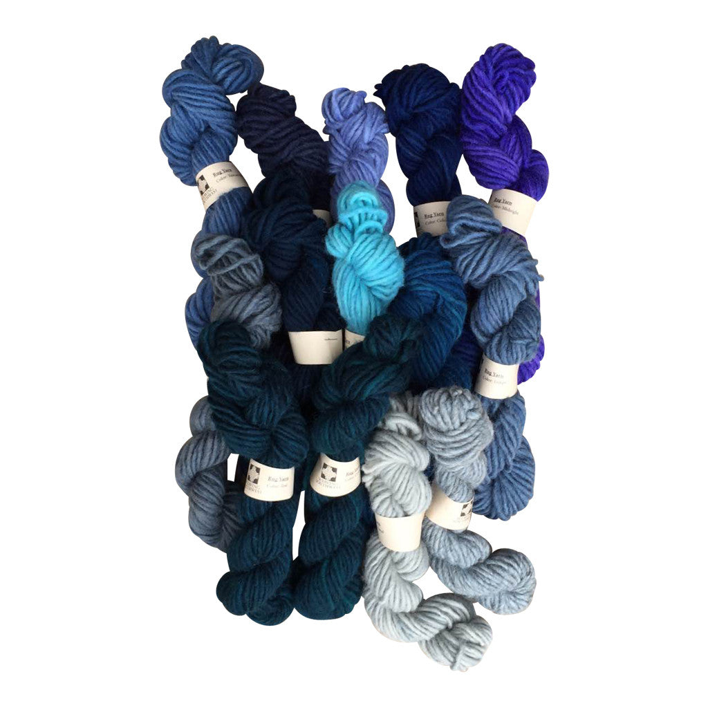 rug yarn for weaving. shades of blue bale (rug yarn) rug yarn for weaving a
