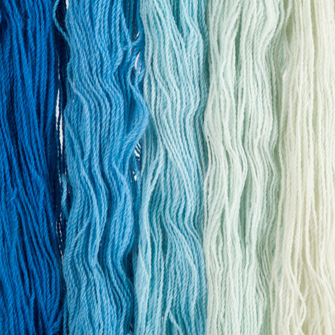 Sky Blue, Hand-dyed 2-ply Tapestry Yarn