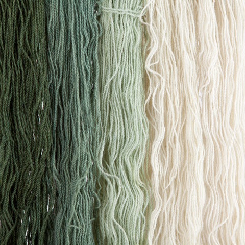 Spruce, Hand-dyed 2-ply Tapestry Yarn