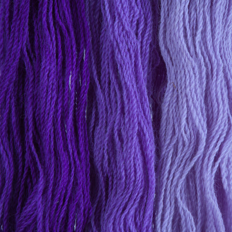 Violet, Hand-dyed 2-ply Tapestry Yarn
