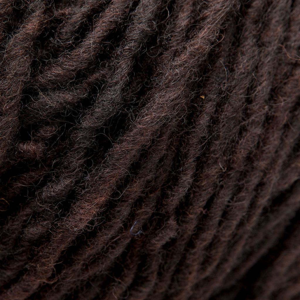Brown-Black, Hand-dyed Rug Yarn