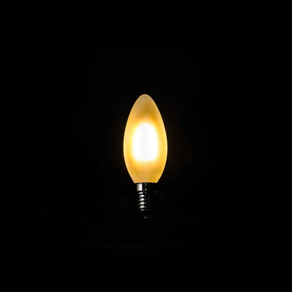 Frosted Candle Filament Lightbulb