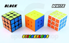 Black, Stickerless, and White Plastic Speed Cubes