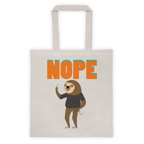 Nope Sloth Tote Bag