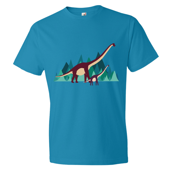 Dinosaur Adventure mens t-shirt caribbean blue